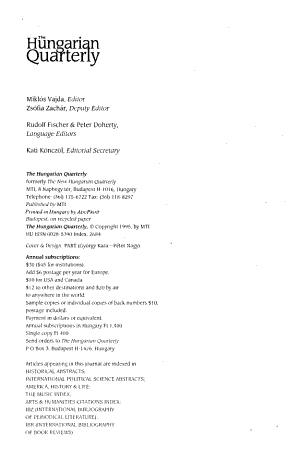 The Hungarian Quarterly PDF