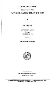 Court Decisions Relating to the National Labor Relations Act PDF