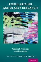 Popularizing Scholarly Research PDF
