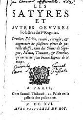 Les satyres et autres oeuvres folastres du St. Regnier