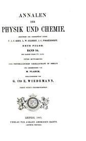 Annalen der Physik und Chemie: Band 54