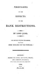 Thoughts on the Effects of the Bank Restrictions: Volume 8