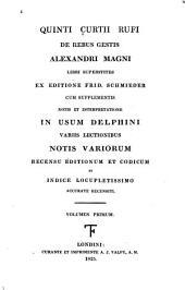 Quinti Curtii Rufi De rebus gestis Alexandri Magni: Volume 1