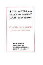 The Novels and Tales of Robert Louis Stevenson: Volume 6