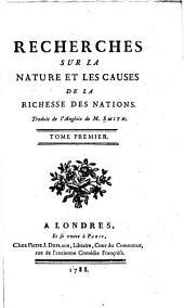 Recherches Sur La Nature Et Les Causes de La Richesse Des Nations: Volume5