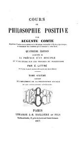 Cours de philosophie positive: Volume 6