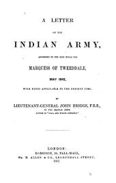 A letter on the Indian army, addressed to the ... marquess of Tweeddale: Volume 6