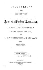 Proceedings of the ... Annual Convention of the American Bankers' Association: Volume 9