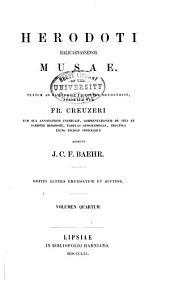 Herodoti Halicarnassensis Musae: Urania. Calliope. Commentatio de vita et scriptis Herodoti