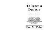 To Teach a Dyslexic