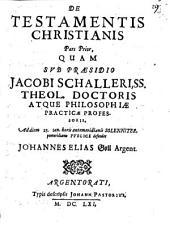 Skiagraphia Partis posterioris De Testamentis Christianis