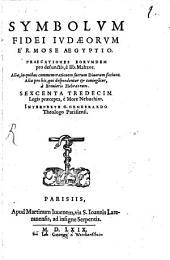 Symbolum fidei Judaeorum