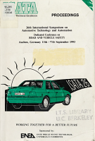 26th International Symposium on Automotive Technology and Automation  Aachen  Germany  13th 17th September 1993 PDF