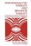 Psychoanalytic Therapy and Behavior Therapy