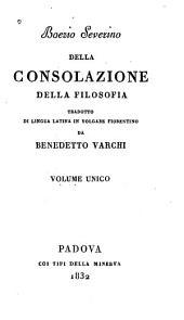 Boezio Severino: della consolazione della filosofia
