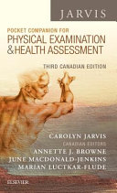 Pocket Companion For Physical Examination And Health Assessment Canadian Edition
