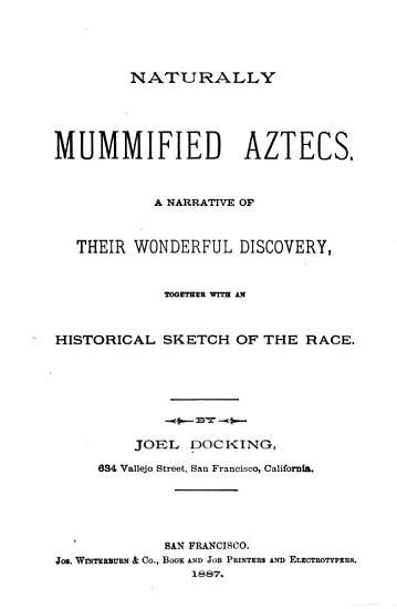 Naturally Mummified Aztecs PDF