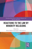 Reactions to the Law by Minority Religions PDF