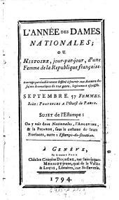 L'Annee des dames nationales; ou histoire jour-par-jour, d'une femme de France: Volume9