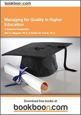 Managing For Quality In Higher Education