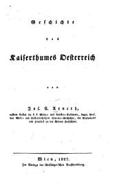 Geschichte des Kaiserthumes Oesterreich