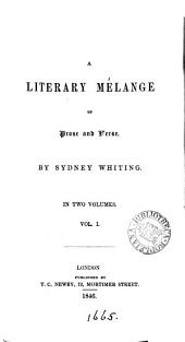 A literary melange of prose and verse
