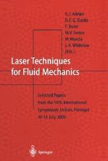 Laser Techniques for Fluid Mechanics PDF