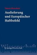 Auslieferung und Europ  ischer Haftbefehl PDF