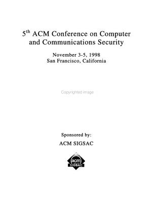 5th ACM Conference on Computer and Communications Security PDF