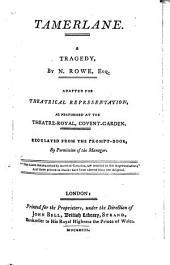 Tamerlane: A Tragedy