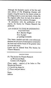 The wandering patentee: or, A history of the Yorkshire theatres from 1770 to the present time, interspersed with anecdotes respecting most of the performers in the three kingdoms from 1765 to 1795. To which are added, never published, The diversions of the morning, and Foote's trial for a libel on Peter Paragraph, Volumes 1-2
