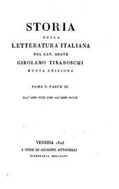Storia della letteratura italiana: Volume 11