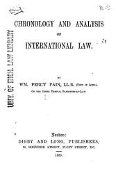 Chronology and Analysis of International Law
