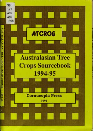 Australasian Tree Crops Sourcebook