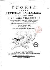 Storia della letteratura italiana del cavaliere abate Girolamo Tiraboschi ... Tomo 1. [-10.]: 4: Dall'anno 1183. fino all'anno 1300, Volume 4