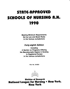 State-approved Schools of Nursing, R.N.