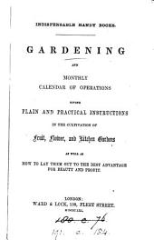 Gardening and monthly calendar of operations