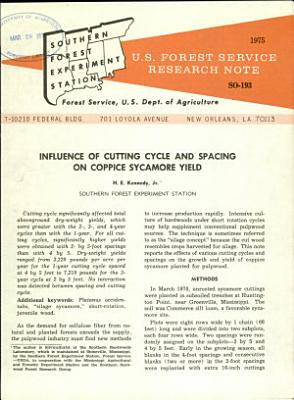 U S  Forest Service Research Note SO  PDF