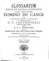 Glossarium mediae et infimae latinitatis: Volume 3