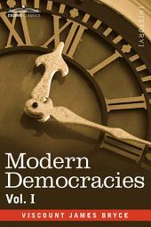 Modern Democracies - In Two Volumes: Volume 1