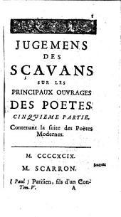 Contenant Les Poetes ; Cinquième Partie: Volumes 4-5