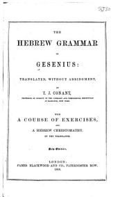 The Hebrew Grammar of Gesenius