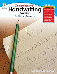 Comprehensive Handwriting Practice  Traditional Manuscript  Grades K   1 Book