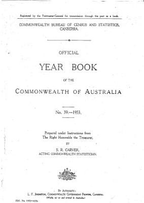 Official Year Book of the Commonwealth of Australia No  39   1953 PDF