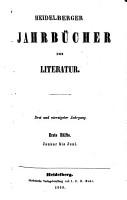 Heidelberger Jahrb  cher der Literatur PDF