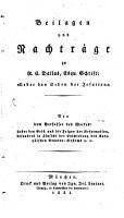 Beilagen und Nachtr  ge zu R  E  Dallas Schrift     ber den Orden der Jesuiten  PDF