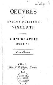 Iconographie romaine: Volume1