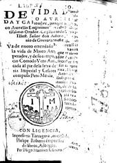 Libro aureo de la vida y caracter de Marco Aurelio, Emperador