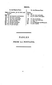 Fables from La Fontaine, in Engl. vers [by J. Matthews. With the Fr. text].