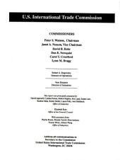 Global Competitiveness of U.S. Environmental Technology Industries: Investigation No. 332-347, U.S. International Trade Commission, March 1995